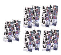 "990 Piece 2"" Block Vinyl Letters Stickers (10 packs)"