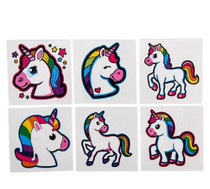 72 Unicorn Tattoos Party Favors Temporary Assorted Images
