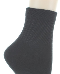 8 Pairs Dr. Scholl's Diabetes and Circulatory Womens Black Ankle Socks Size 4-10