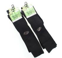 6 Pairs Women's Bamboo Knee High Socks Black Size 9-11