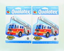 "Lot of 2 XL 36"" Fire Truck Super Shape Mylar Foil Balloon Birthday Party"