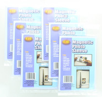 """Magnetic 4"""" x 6"""" Photo Sleeves Insert Picture Reusable Holder Lot of 12"""