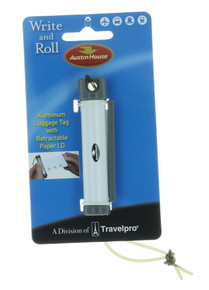 Austin House Write & Roll Aluminum Luggage Tag Retractable Paper ID Set of 6