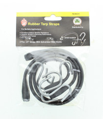"Rubber Bungee Cords 21"" With S Hooks Multiple Use Tiedown Tarp Straps Lot of 10"