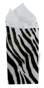 Lot of 24 Safari Jungle Animal Print Paper Party Treat Bags