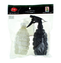 Spray Bottles 18oz Grenade Shaped Black and White Yuhua Lot of 6