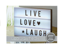 Cinema LED Marquee Light Box 100 Changeable Numbers & Letters Battery Operated