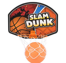 """Mini 8.5"""" Slam Dunk Basketball Set Hang Over The Door Ages 3+ Years RINCO"""