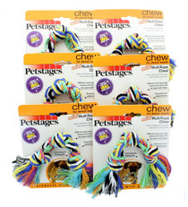 Petstages Lot of 6 Mini Multi Rope Chew Dog Toy For Dental Health
