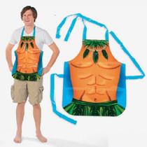 Fun Express Lot of 4 Hawaiian Luau Apron Vinyl Male Fun Costume Adult Size Islander Physique