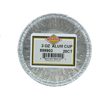 Quality Lot of 60 Silver Aluminum Foil Baking Cups 3oz. Disposable Cupcake Muffin