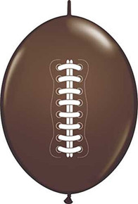Football Dark Brown Connectable Balloons, Set of 12