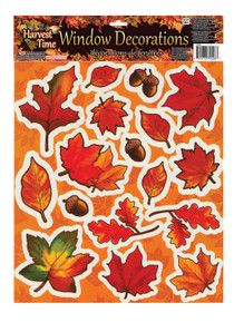 3 Sheets Fall Harvest Time Window Decal Decorations