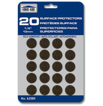 "Home Aide Lot of 80 Surface Protectors 1/2"" Round Felt 13mm (4 Packs)"