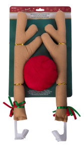 Christmas Car Costume Tan Antler Decorating Kit With Red Nose Reindeer Truck SUV
