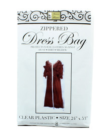 "Lot of 2 Zippered Dress Bag Women 24"" x 53"" Garment Suit Travel Protector"
