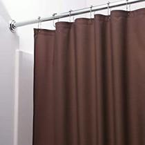 Shower Curtain Liner Chocolate Brown Mildew Resistant Vinyl