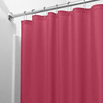 Shower Curtain Liner Burgundy Mildew Resistant Vinyl