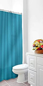 Shower Curtain Liner Turquoise Mildew Resistant Vinyl