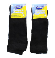 2 Pairs Dr. Scholl's Diabetes & Circulatory  X Large Men's Black Health Socks