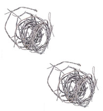 Lot of 2 Silver Barbwire Cord Nylon Halloween Haunted House Western Party Decor