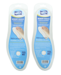 Lot of 2 Memory Foam Insoles Cut to Size Unisex Foot Relief Heel To Toe Cushion