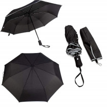 Rain Gear Premium Umbrella Push Button Reflective Wind Proof Folding Umbrella