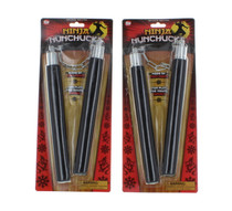 Lot of 2 Foam Ninja Nunchucks Fun Play for Young Ninjas Ages 8 and Up