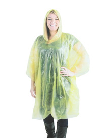Yellow Hooded Rain Ponchos Lightweight Camping Outdoor Survival Lot of 8