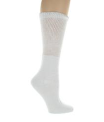 4 Pairs Mens or Women White Diabetic Socks Loose Fit Size 10-13