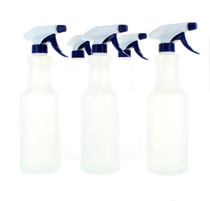 Lot of 5 Spray Bottles 28 oz. Trigger Sprayer Frosted Plastic
