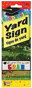 """Graduation Yard Sign Banner Congratulations Grad 30"""" x 10"""""""