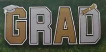 """Congratulations Grad Yard Decorations Sign Banner 10"""" X 14"""""""