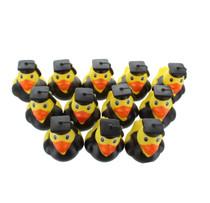 Lot of 12 Mini Graduation Rubber Ducks Party Favors