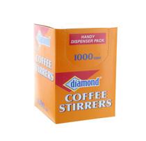 1000 Coffee Drink Stirrer Straw Stix Beverage Cocktail Plastic Dispenser Pack