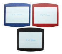 "Set of 3 Photo Mouse Pads Custom 5"" x 7"" Picture Insert Frame Red Blue Black"