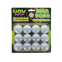 12 Glow In The Dark Beer Ping Pong Balls Washable Drinking