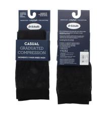 2 Pair Women's Dr. Scholl's Graduated Compression Socks Black SIze 4-10