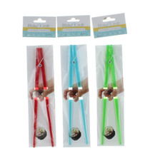 Lot of 3 Plastic Clothespin Chopsticks Red Green Blue Chinese Japanese Sushi