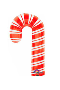 "XL 37"" Candy Cane Christmas Mylar Foil Balloon Super Shape Party Decoration"