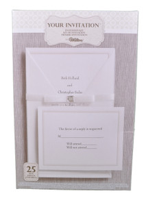 Set of 25 Wilton Wedding Princess Invitation Kit 1010-107 Print At Home