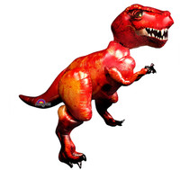 "Airwalker  61"" XL Discovering Dinosaurs T-Rex Mylar Foil Balloon Party"