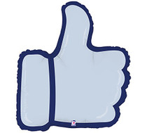"Thumbs Up Mylar Foil Balloon Good Job Social Media Like Symbol 28"""