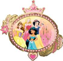 "XL 34"" Once Upon A Time Disney Princess Super Shape Mylar Foil Balloon"