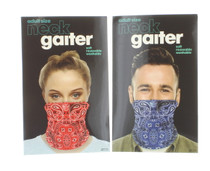 Lot of 2 Adult Neck Gaiter Soft Reusable Washable Blue and Red