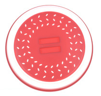 Collapsible Microwave Splatter Proof Plate Cover (Red)