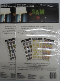 """Lot of 208 Glow In The Dark Alphabet Stickers 2.5"""" Crafts Scrapbooking Labels"""