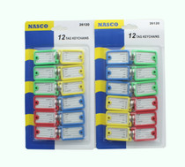 Lot of 24 Color Coded Key Tags ID Labels Key Ring Assorted Colors