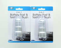 Lot of 2 Battery Post And Terminal Brush 2-in-1 Automotive Supply