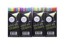 "1000  Mini Stir Straws Drink Stix Beverage Cocktail Plastic Disposable 5"""